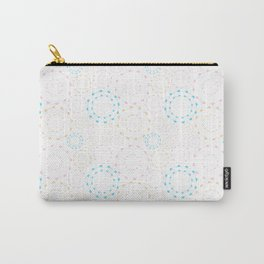 Abstract pattern made with shapes in the light Pastel Style Carry-All Pouch