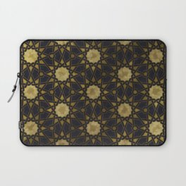 Islamic decorative pattern with golden artistic texture Laptop Sleeve