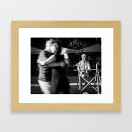 Statue Man Framed Art Print