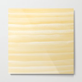 Touching Yellow White Watercolor Abstract Stripe #1 #painting #decor #art #society6 Metal Print