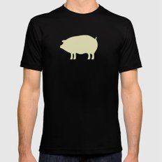 PIG PATTERN Black X-LARGE Mens Fitted Tee
