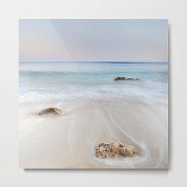 """Serenity beach"". Sunset at the beach Metal Print"
