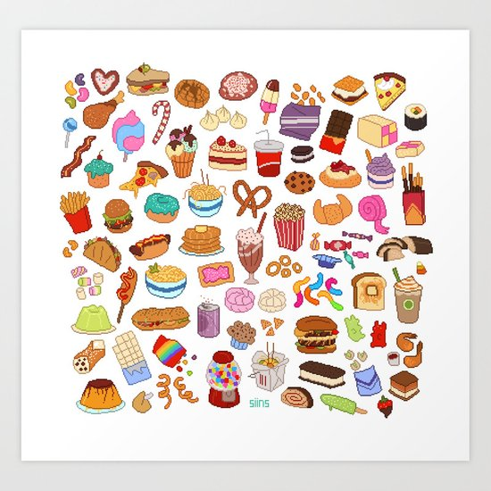Cute Food Art Print By Siins Society6