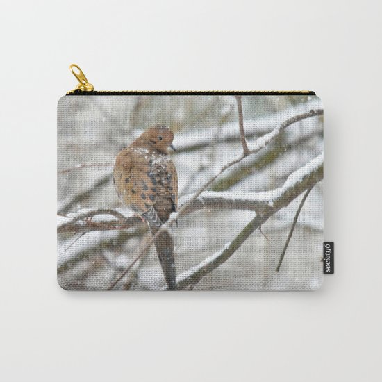 Winter Dove Carry-All Pouch