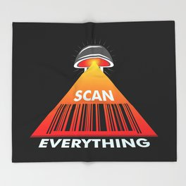 Scan Everything Amazonian Barcode Roll - Payment Tracking - Bar Code Throw Blanket