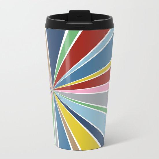 Star Burst Color Metal Travel Mug