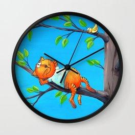 Leon, The Cat Wall Clock