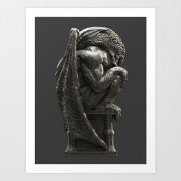 Cthulhu Statuette I Art Print