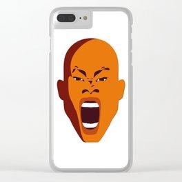 face digital pop Art atalanta creative graphic design zollione store Clear iPhone Case