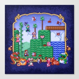 Mario Super Bros, Too Canvas Print