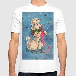 Vintage Christmas Dog - Fancy Poodle T-shirt