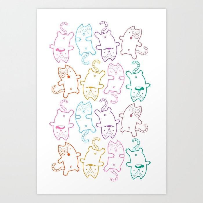 kitty cats Art Print