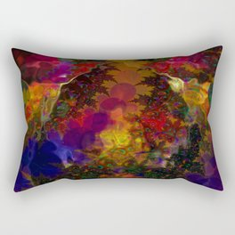 Stereo Trippin' Psychedelic Fractal Rectangular Pillow