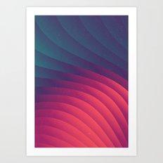 Reservoir Lines Art Print