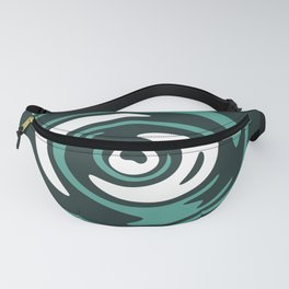 Abstract Green Whirlpool Fanny Pack