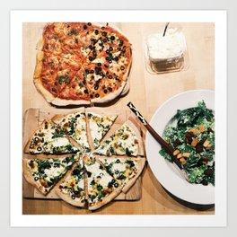 Pizza & Salad Art Print