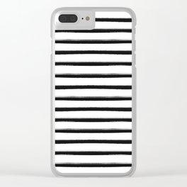 Stripes, Scandinavian, Minimal, Pattern, Modern art Clear iPhone Case