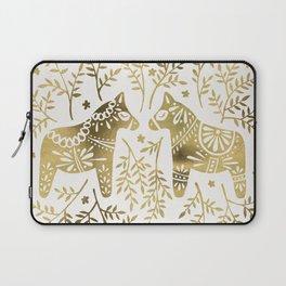 Swedish Dala Horses – Gold Palette Laptop Sleeve