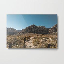 Path to Red Rock Canyon Metal Print