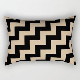 Black and Tan Brown Steps RTL Rectangular Pillow
