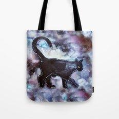 Black Cat Constellation  Tote Bag