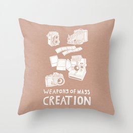Weapons Of Mass Creation - Photography (white) Throw Pillow