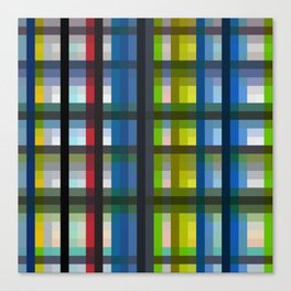 colorful striking retro grid pattern Nis Canvas Print