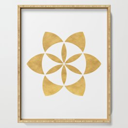 SEED OF LIFE minimal sacred geometry Serving Tray