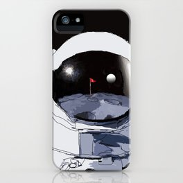 Astronaut Golf Course on the Moon iPhone Case