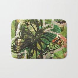 Green Butterflies  Bath Mat