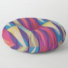 Party Argyle on Purple Floor Pillow