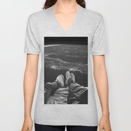 Lost in Space Over Italy Unisex V-Neck