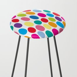 Colour Spots White Counter Stool