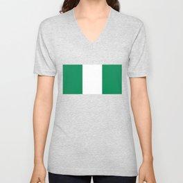 Nigerian Flag of Nigeria Unisex V-Neck