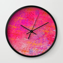 A state of calm pink Wall Clock