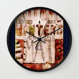 Welcome Winter Wall Clock