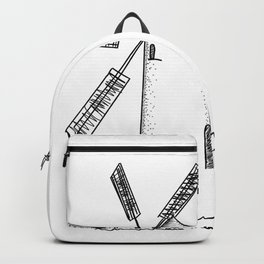 mill on white background Backpack