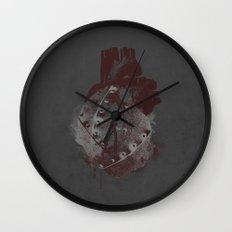 tin heart Wall Clock
