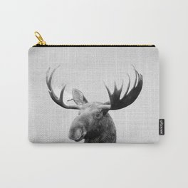 Moose - Black & White Carry-All Pouch