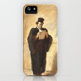 """Honoré Daumier """"Avant l'Audience (Before the hearing)"""" iPhone Case"""