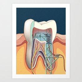 Homo Machina | Teeth cleaning Art Print