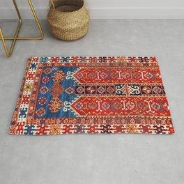 Kazak Southwest Caucasus Carpet Fragment Print Rug