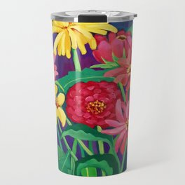 Zinnias Travel Mug