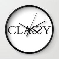 classy Wall Clocks featuring Classy by Rui Faria
