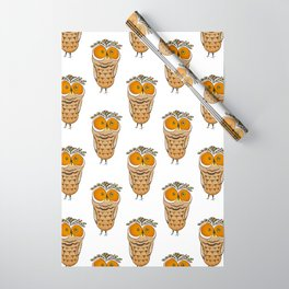 Crazy Owl Wrapping Paper