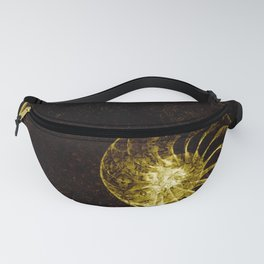 sacred geometry-shell mandala-nature-healing-energy-quantum Fanny Pack
