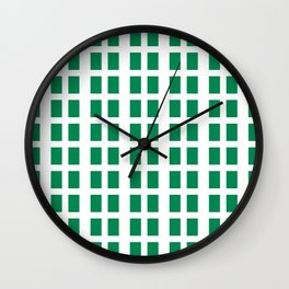 Flag of nigeria -nigeria, nigerian,africa,hausa,igbo,Yoruba,Naira,Lagos,Kano Wall Clock