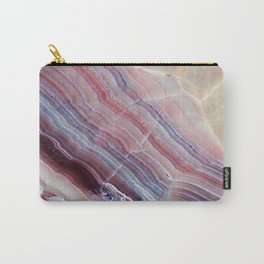 Purple & Pink Striped Agate Geode Quartz Slab Carry-All Pouch