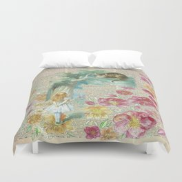 Vintage Floral Alice In Wonderland Duvet Cover
