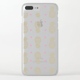 Golden pineapple pattern Clear iPhone Case